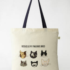 Tote Rescue cats - Navy-1