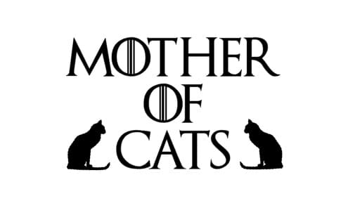 Mother of cats decal