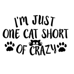 I'm Just One Cat Short of Crazy