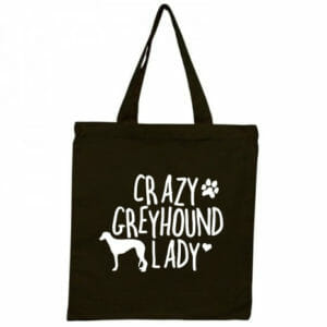 Crazy Greyhound Lady Tote Bag