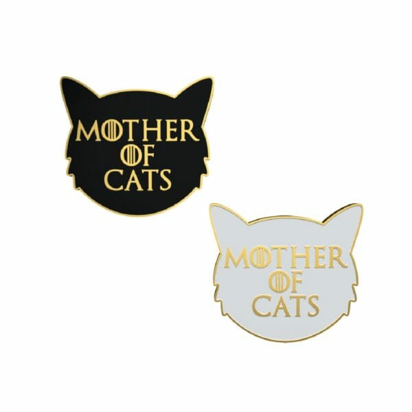 mother of cats enamel pins